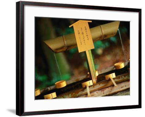 Facilities for Hand Washing at Shrine Tokyo, Kanto, Japan-John Hay-Framed Art Print