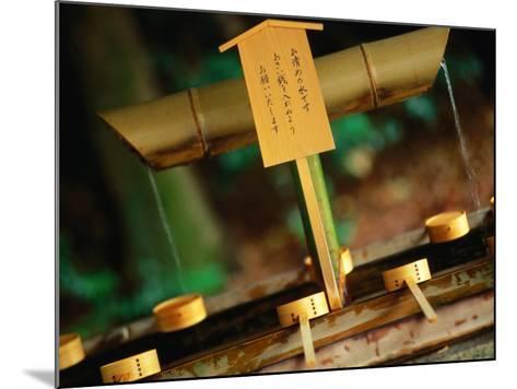 Facilities for Hand Washing at Shrine Tokyo, Kanto, Japan-John Hay-Mounted Photographic Print
