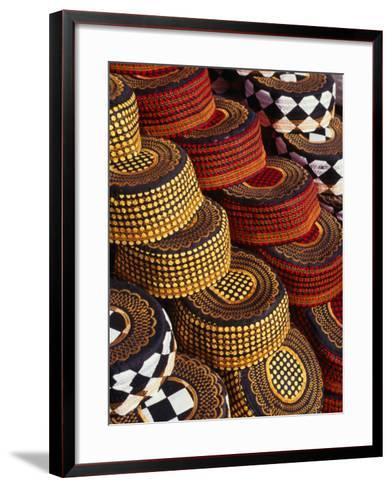 Muslim Prayer Caps for Sale in Colombo, Sri Lanka-Dallas Stribley-Framed Art Print