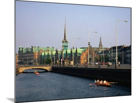 Fredriksholm Canal with the Borsen Building (Stockmarket) in Background, Copenhagen, Denmark-Anders Blomqvist-Mounted Photographic Print
