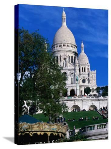 The Sacre Coeur Basilica is Located at the Top of Montmatre (Marty'R Hill) in Paris, France-Doug McKinlay-Stretched Canvas Print