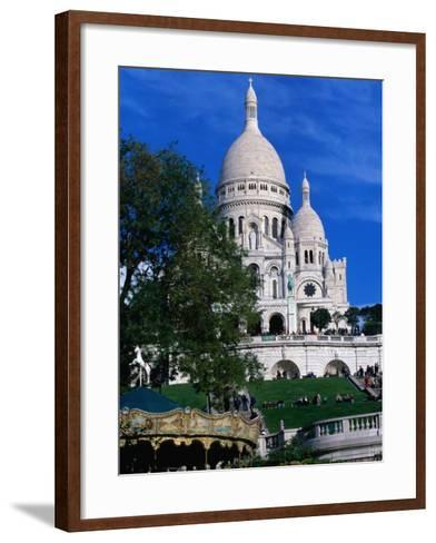 The Sacre Coeur Basilica is Located at the Top of Montmatre (Marty'R Hill) in Paris, France-Doug McKinlay-Framed Art Print