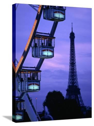 The Paris Ferris Wheel and Eiffel Tower, Paris, Ile-De-France, France-Doug McKinlay-Stretched Canvas Print
