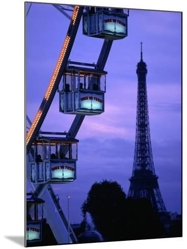 The Paris Ferris Wheel and Eiffel Tower, Paris, Ile-De-France, France-Doug McKinlay-Mounted Photographic Print