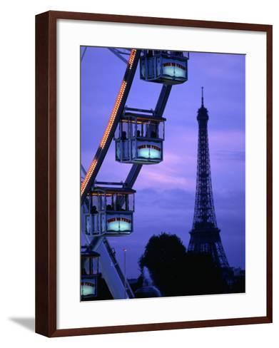 The Paris Ferris Wheel and Eiffel Tower, Paris, Ile-De-France, France-Doug McKinlay-Framed Art Print
