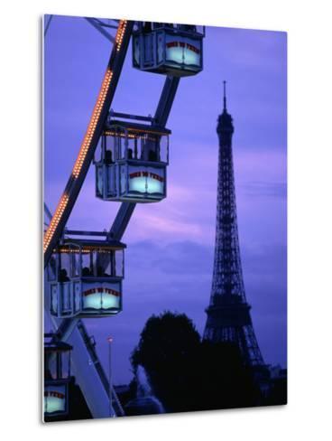 The Paris Ferris Wheel and Eiffel Tower, Paris, Ile-De-France, France-Doug McKinlay-Metal Print