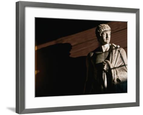 Statue of Hercules at Thorvaldsens Museum, Copenhagen, Denmark-Martin Moos-Framed Art Print