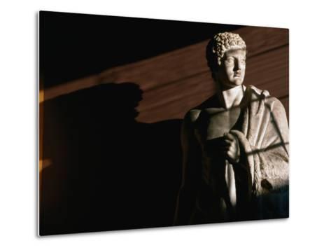 Statue of Hercules at Thorvaldsens Museum, Copenhagen, Denmark-Martin Moos-Metal Print