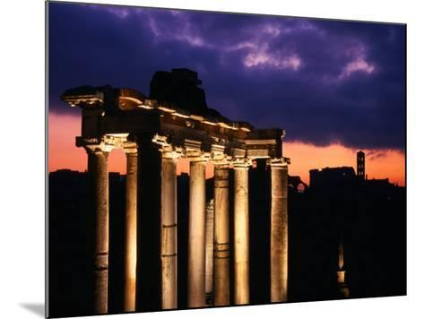 Granite Columns Illuminated Against Sky at Sunrise, Rome, Italy-Jonathan Smith-Mounted Photographic Print