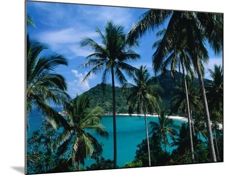 Palm Ringed Cove of Bottle Beach, Thailand-Kraig Lieb-Mounted Photographic Print