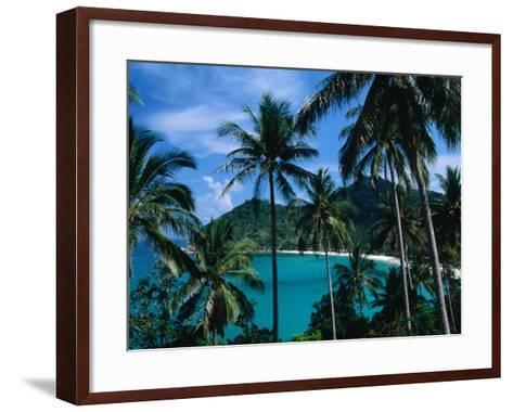 Palm Ringed Cove of Bottle Beach, Thailand-Kraig Lieb-Framed Art Print