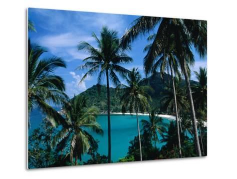 Palm Ringed Cove of Bottle Beach, Thailand-Kraig Lieb-Metal Print
