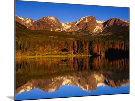 Sprague Lake Provides a Near-Perfect Mirror for the Surrounding Mountains, Colorado, USA-Gareth McCormack-Mounted Photographic Print