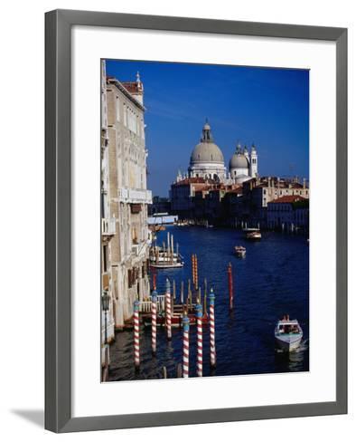 Grand Canal and Domes of Chiesa Di Santa Maria Della Salute in Distance, Venice, Italy-Gareth McCormack-Framed Art Print
