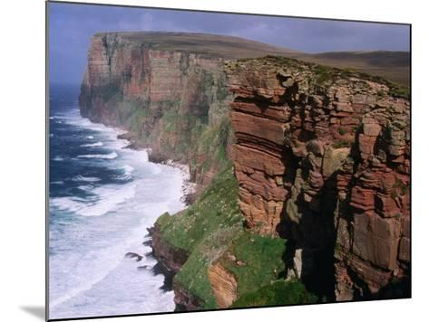 Old Red Sandstone Cliffs Toward St. Johns Head, Hoy, Orkney Islands, Scotland-Grant Dixon-Mounted Photographic Print