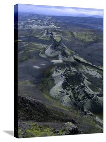 Crater Row from the 1783 Volcanic Eruptions, Sudurland, Iceland-Grant Dixon-Stretched Canvas Print