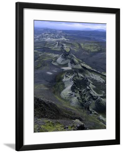 Crater Row from the 1783 Volcanic Eruptions, Sudurland, Iceland-Grant Dixon-Framed Art Print