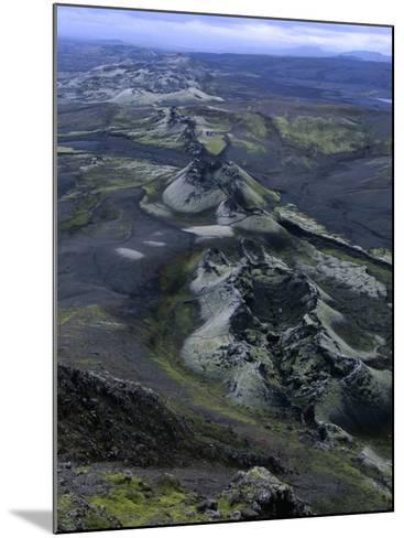 Crater Row from the 1783 Volcanic Eruptions, Sudurland, Iceland-Grant Dixon-Mounted Photographic Print