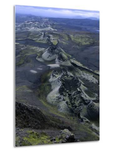 Crater Row from the 1783 Volcanic Eruptions, Sudurland, Iceland-Grant Dixon-Metal Print