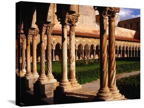 Duomo Cloister (12th Century), Monreale, Italy-Wayne Walton-Stretched Canvas Print