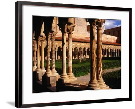 Duomo Cloister (12th Century), Monreale, Italy-Wayne Walton-Framed Art Print