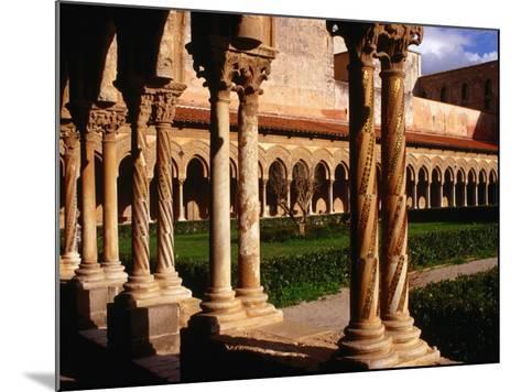 Duomo Cloister (12th Century), Monreale, Italy-Wayne Walton-Mounted Photographic Print