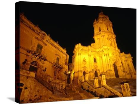Cathedral San Giorgio, Modica, Italy-Wayne Walton-Stretched Canvas Print