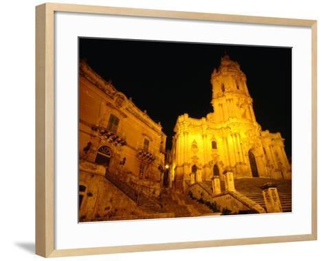 Cathedral San Giorgio, Modica, Italy-Wayne Walton-Framed Art Print