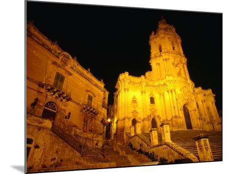 Cathedral San Giorgio, Modica, Italy-Wayne Walton-Mounted Photographic Print