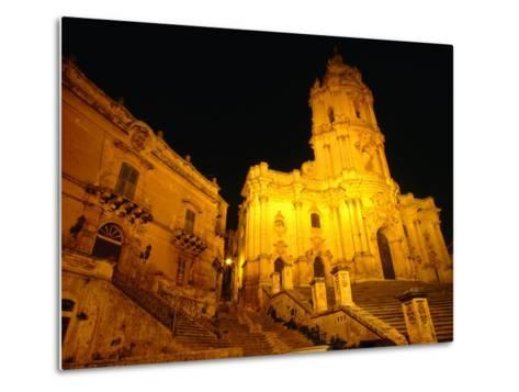 Cathedral San Giorgio, Modica, Italy-Wayne Walton-Metal Print