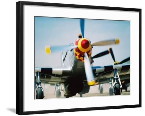 "WWII Aeroplane, ""War Birds"" Air Show, Oshkosh, U.S.A.-Lou Jones-Framed Art Print"