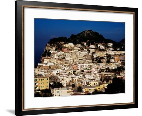 Pastel Coloured Houses on Island, Capri, Italy-Pershouse Craig-Framed Art Print