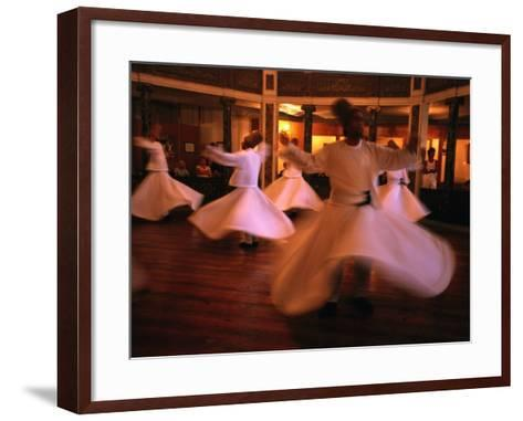 Whirling Dervishes, Istanbul, Turkey-Phil Weymouth-Framed Art Print