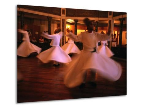 Whirling Dervishes, Istanbul, Turkey-Phil Weymouth-Metal Print