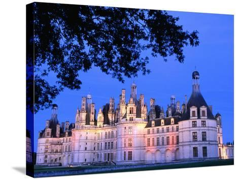 Chateau Chambord in Loire Valley, Chambord, France-John Banagan-Stretched Canvas Print