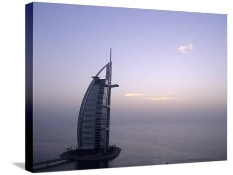 Exterior of Burj Al Arab Hotel, Dubai, United Arab Emirates-Holger Leue-Stretched Canvas Print