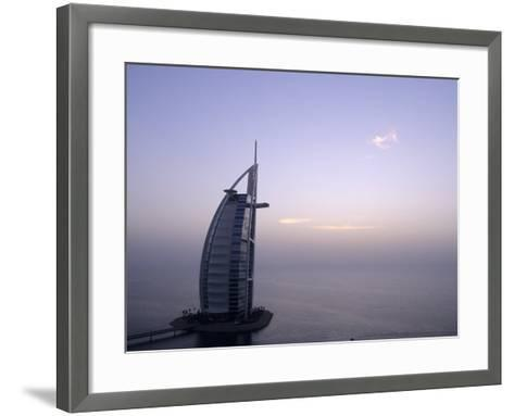 Exterior of Burj Al Arab Hotel, Dubai, United Arab Emirates-Holger Leue-Framed Art Print