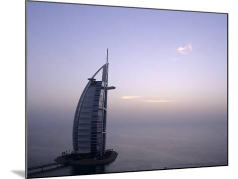 Exterior of Burj Al Arab Hotel, Dubai, United Arab Emirates-Holger Leue-Mounted Photographic Print