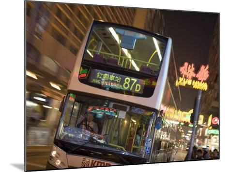 Double-Decker Bus on Nathan Road, Tsim Sha Tsui, Kowloon, China-Holger Leue-Mounted Photographic Print