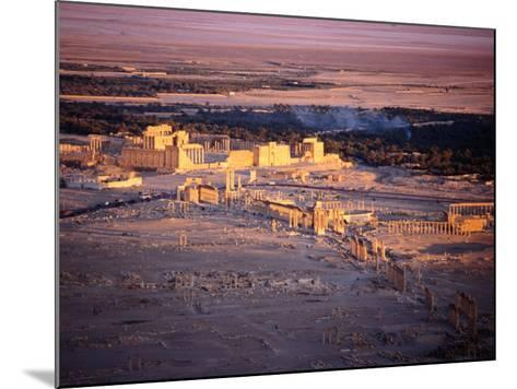 Sunset Over Ruins of Ancient City of 17th Century Arab Castle, Qala'At Ibn Maan, Syria-Tony Wheeler-Mounted Photographic Print