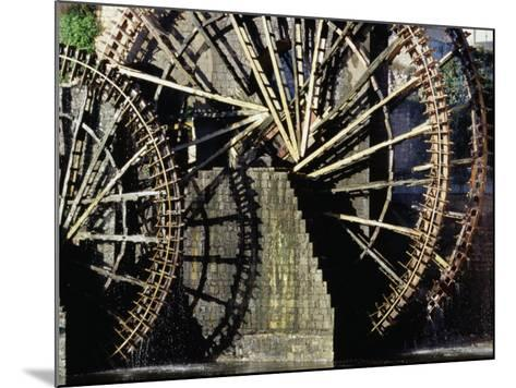 Triple Noria (Wooden Water Wheel), Hama, Syria-Tony Wheeler-Mounted Photographic Print