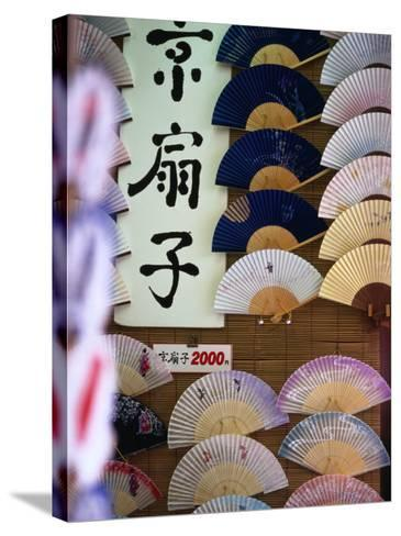 Fans for Sale, Kyoto, Kinki, Japan-Christopher Groenhout-Stretched Canvas Print
