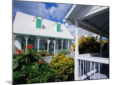 A View of Loyalist Homes and Gardens in Dunmore Town, Dunmore Town, Harbour Island, Bahamas-Greg Johnston-Mounted Photographic Print