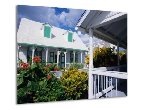 A View of Loyalist Homes and Gardens in Dunmore Town, Dunmore Town, Harbour Island, Bahamas-Greg Johnston-Metal Print