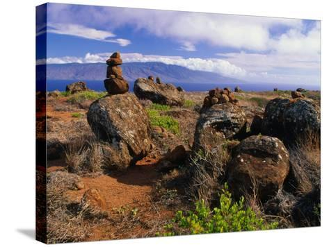 The Garden of the Gods, Lanai, Hawaii, USA-Ann Cecil-Stretched Canvas Print