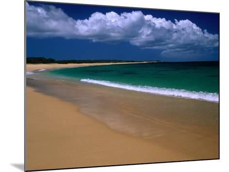 Popohaku Beach is the Longest Beach on Molokai's West End, Molokai, Hawaii, USA-Ann Cecil-Mounted Photographic Print