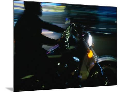 Motorbike on Main Street at Bike Week, Daytona Beach, Florida, USA-Lawrence Worcester-Mounted Photographic Print