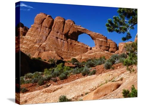 Skyline Arch, Arches National Park, Arches National Park, Utah, USA-Carol Polich-Stretched Canvas Print