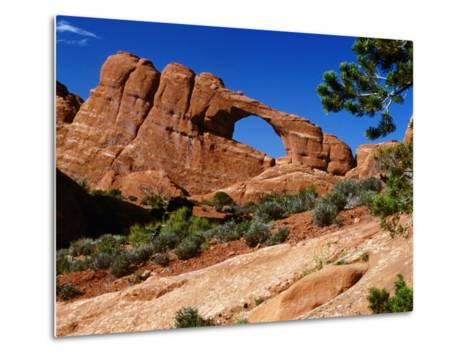 Skyline Arch, Arches National Park, Arches National Park, Utah, USA-Carol Polich-Metal Print