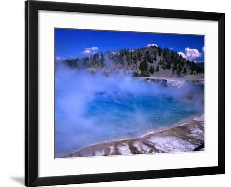 Lower Geyser Basin Yellowstone National Park, Wyoming, USA-Rob Blakers-Framed Art Print